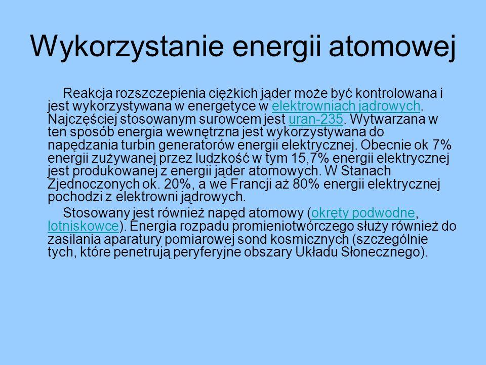 Wykorzystanie energii atomowej