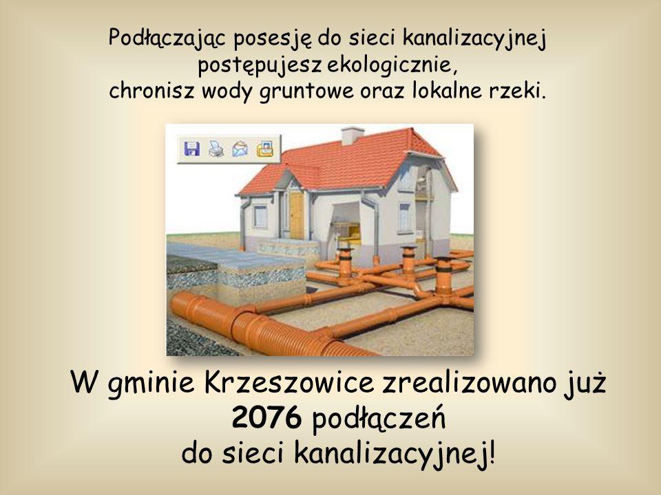 W gminie Krzeszowice zrealizowano już 2076 podłączeń