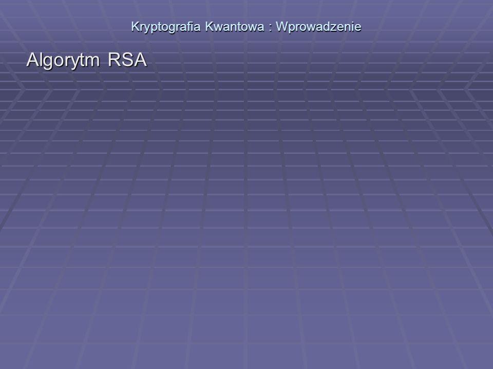 Kryptografia Kwantowa : Wprowadzenie