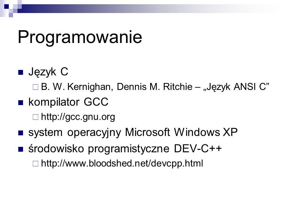 Programowanie Język C kompilator GCC