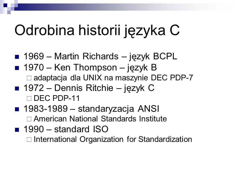 Odrobina historii języka C