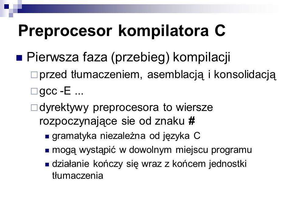 Preprocesor kompilatora C