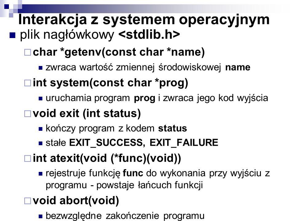 Interakcja z systemem operacyjnym