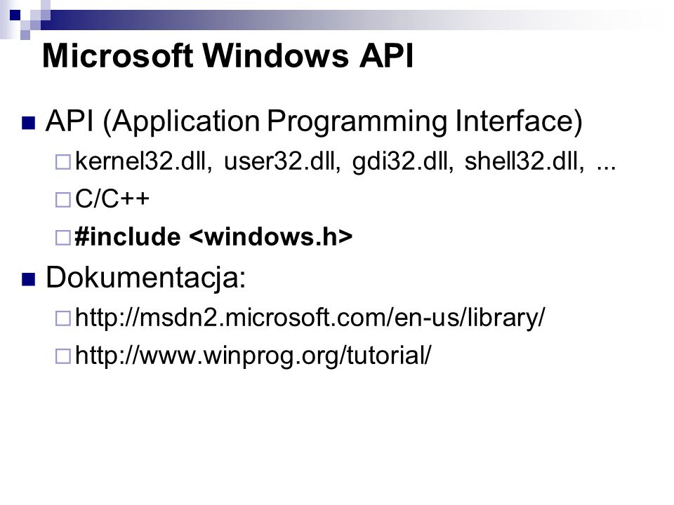 Microsoft Windows API API (Application Programming Interface)