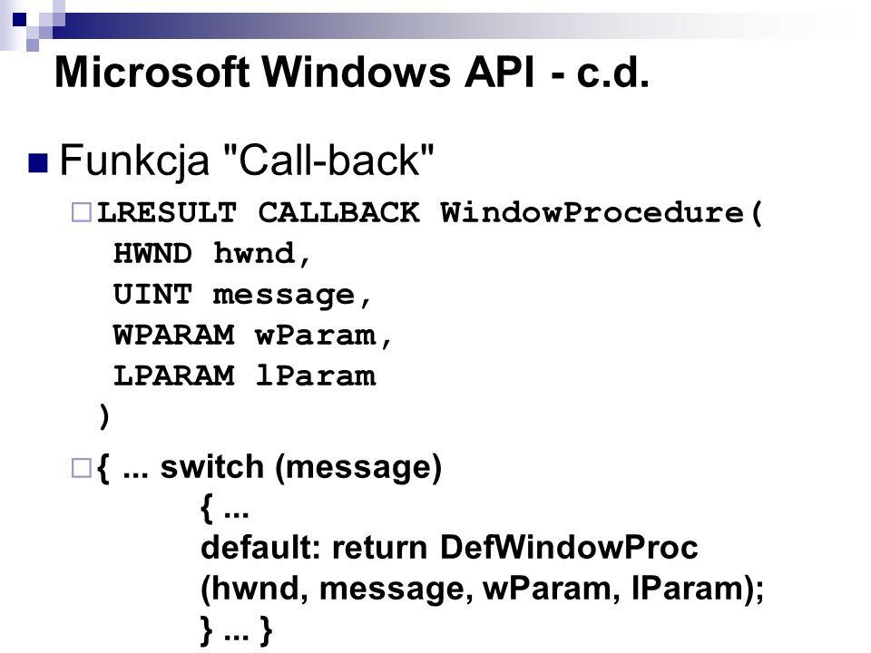 Microsoft Windows API - c.d.