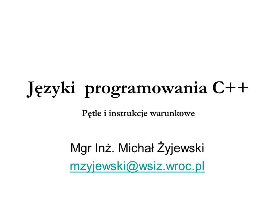 Języki programowania C++