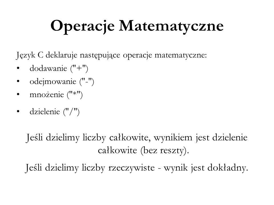 Operacje Matematyczne