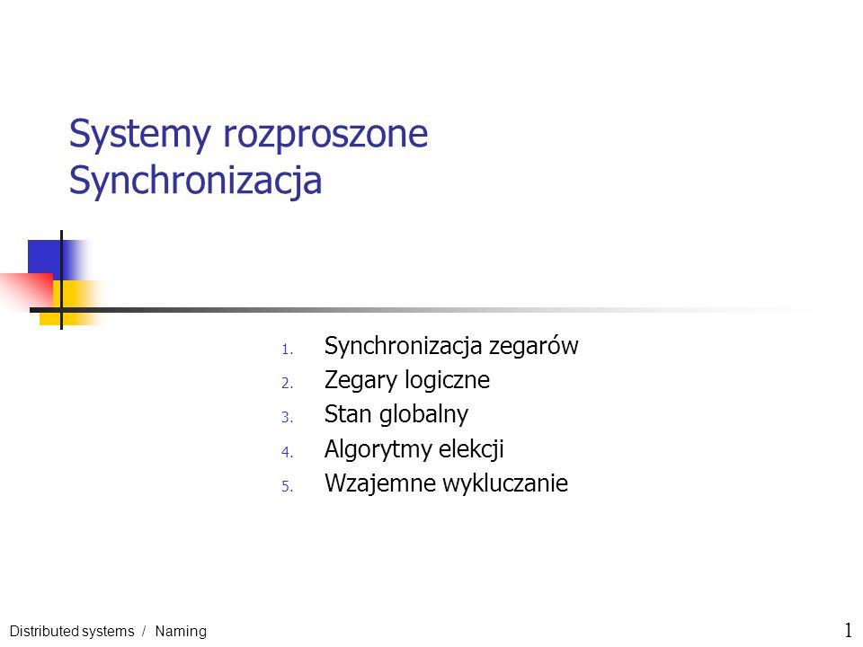 Systemy rozproszone Synchronizacja