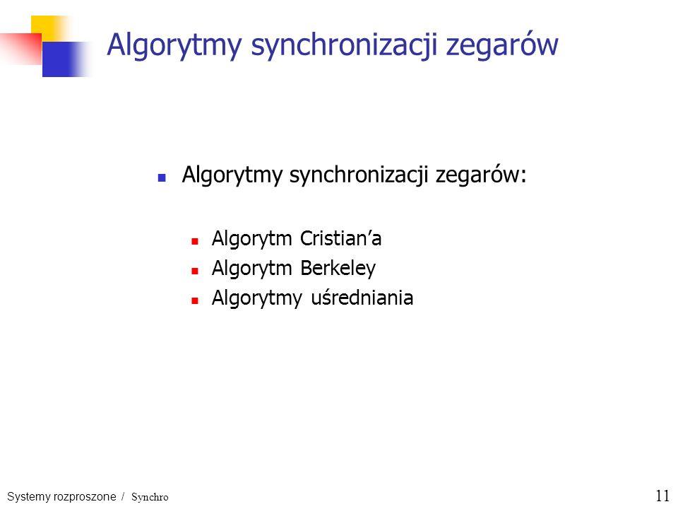 Algorytmy synchronizacji zegarów