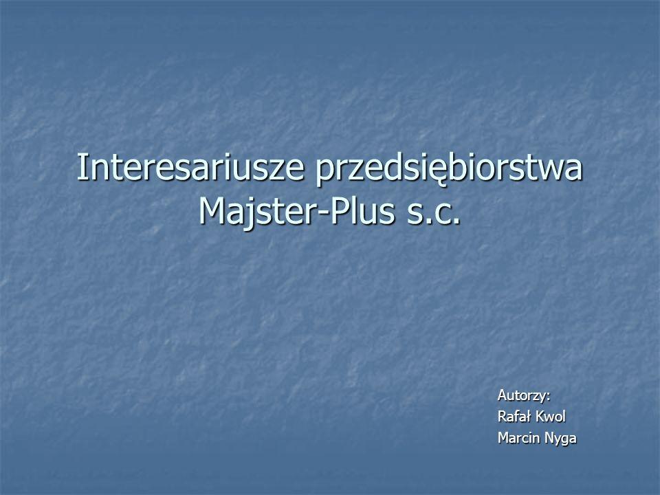 Interesariusze przedsiębiorstwa Majster-Plus s.c.