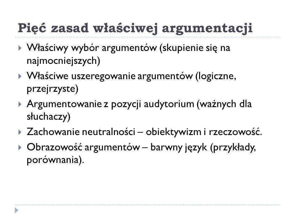 Pięć zasad właściwej argumentacji
