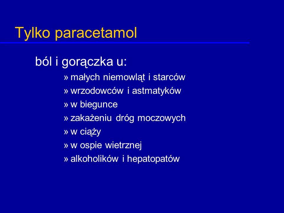 Tylko paracetamol ból i gorączka u: małych niemowląt i starców