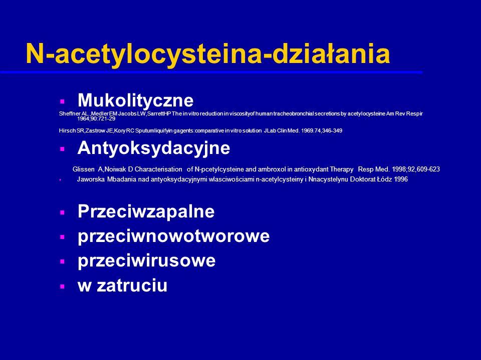 N-acetylocysteina-działania