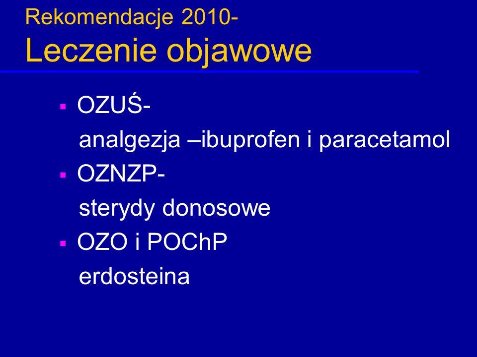 Rekomendacje 2010- Leczenie objawowe