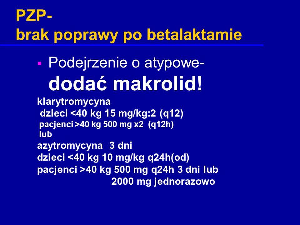 PZP- brak poprawy po betalaktamie