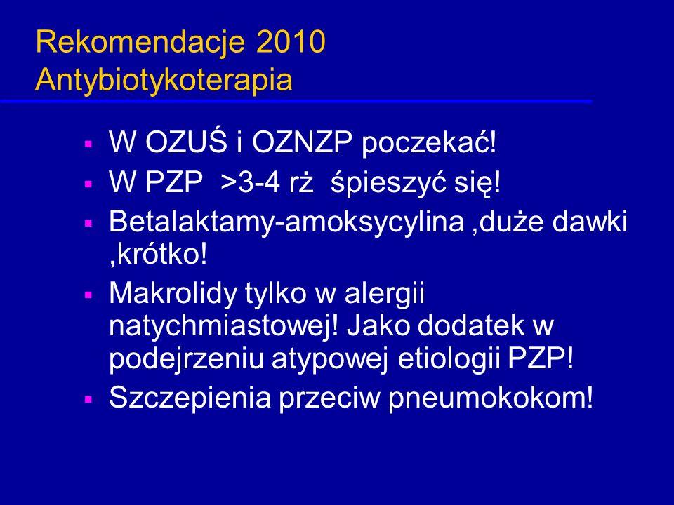 Rekomendacje 2010 Antybiotykoterapia