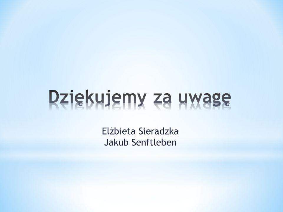Dziękujemy za uwagę Elżbieta Sieradzka Jakub Senftleben