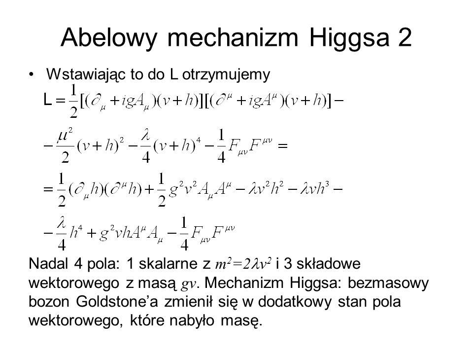 Abelowy mechanizm Higgsa 2