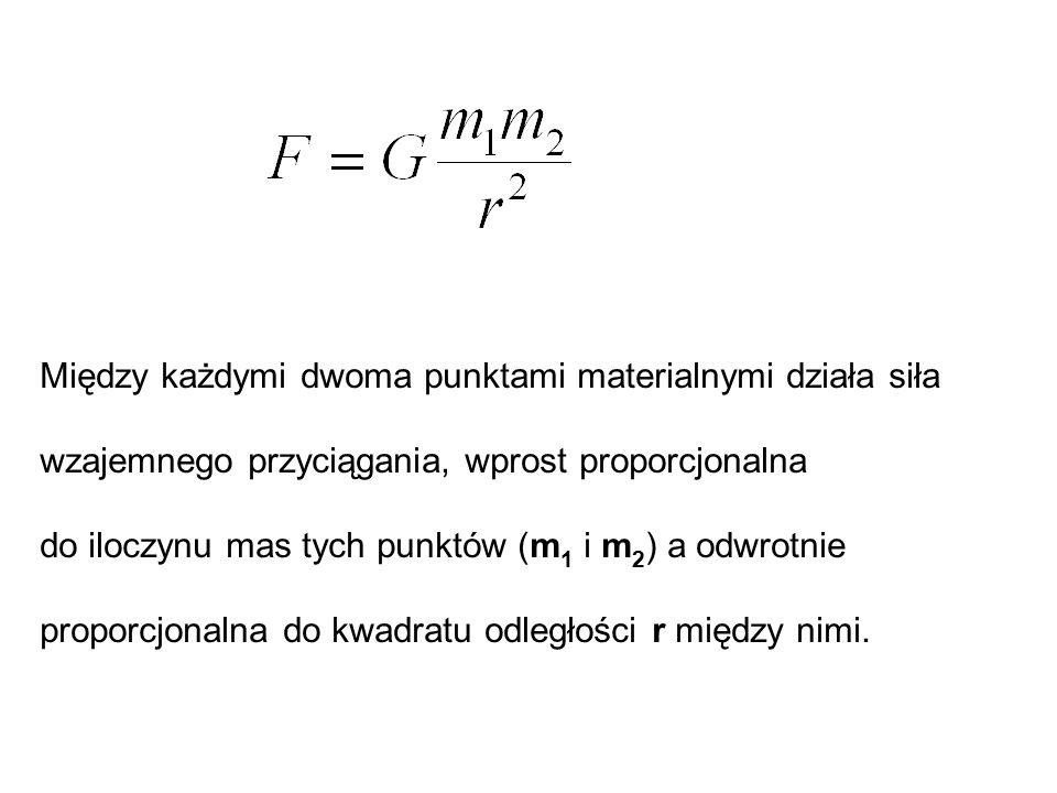 Między każdymi dwoma punktami materialnymi działa siła