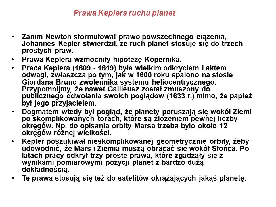 Prawa Keplera ruchu planet