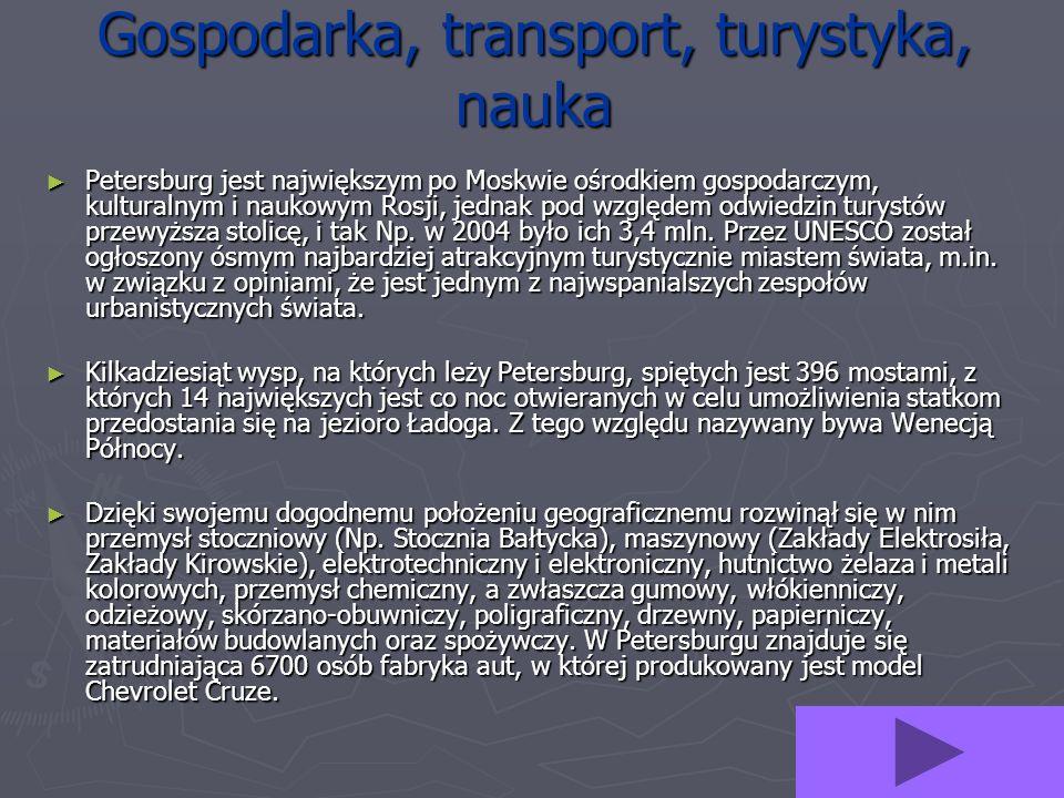 Gospodarka, transport, turystyka, nauka