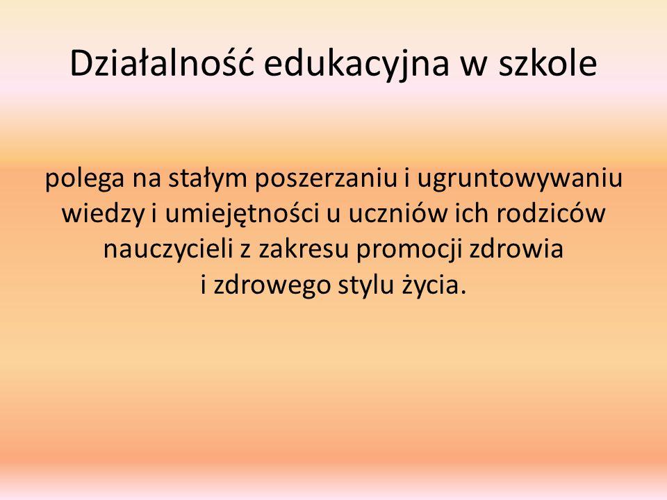 Działalność edukacyjna w szkole