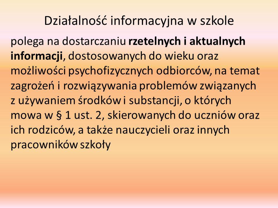 Działalność informacyjna w szkole