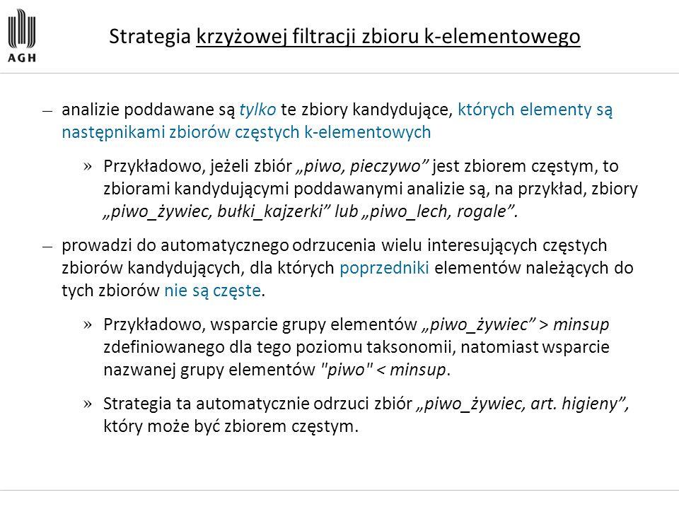 Strategia krzyżowej filtracji zbioru k-elementowego