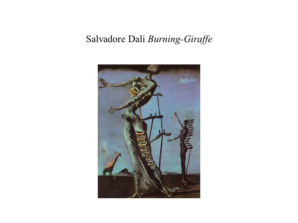 Salvadore Dali Burning-Giraffe