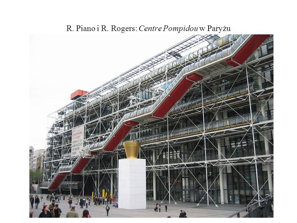 R. Piano i R. Rogers: Centre Pompidou w Paryżu