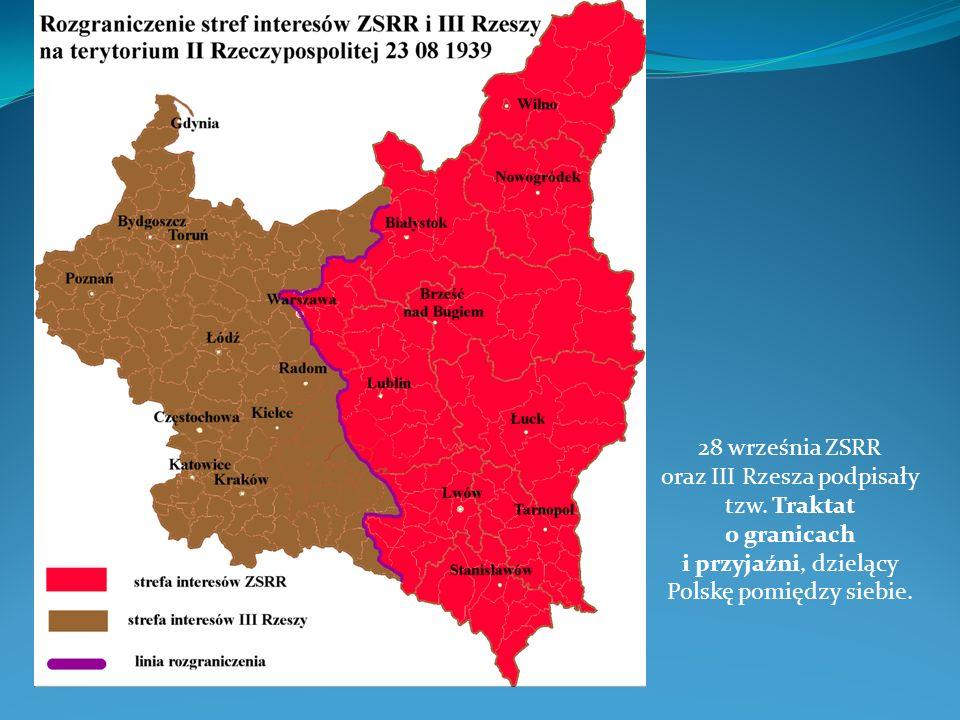 28 września ZSRR oraz III Rzesza podpisały tzw