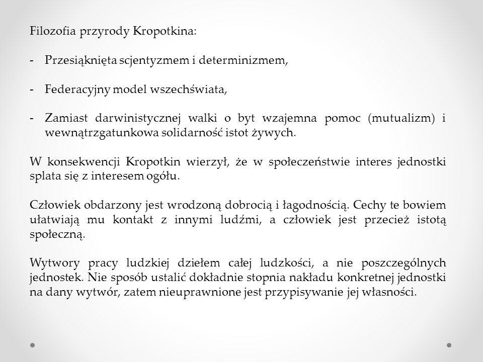 Filozofia przyrody Kropotkina: