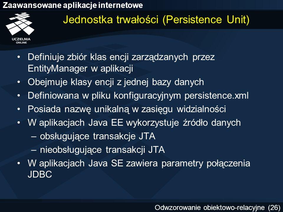 Jednostka trwałości (Persistence Unit)