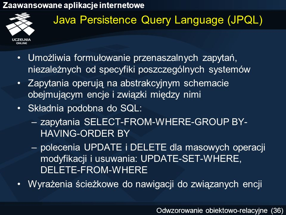 Java Persistence Query Language (JPQL)