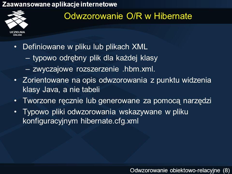 Odwzorowanie O/R w Hibernate