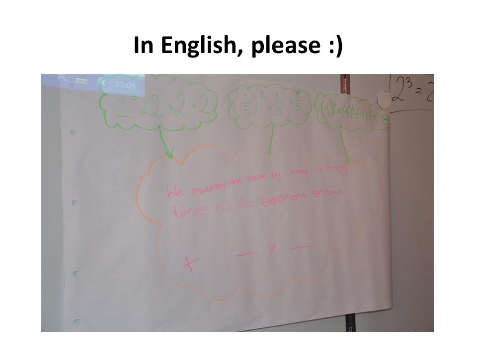 In English, please :)