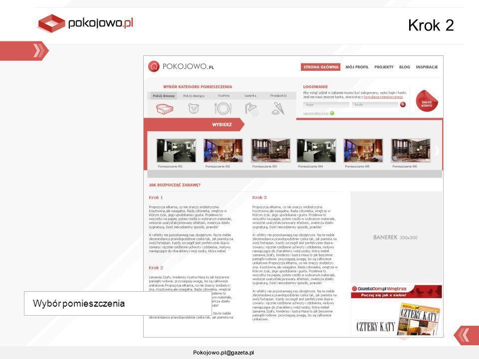 Krok 2 Wybór pomieszczenia Pokojowo.pl@gazeta.pl