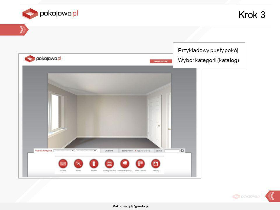 Krok 3 Przykładowy pusty pokój Wybór kategorii (katalog)