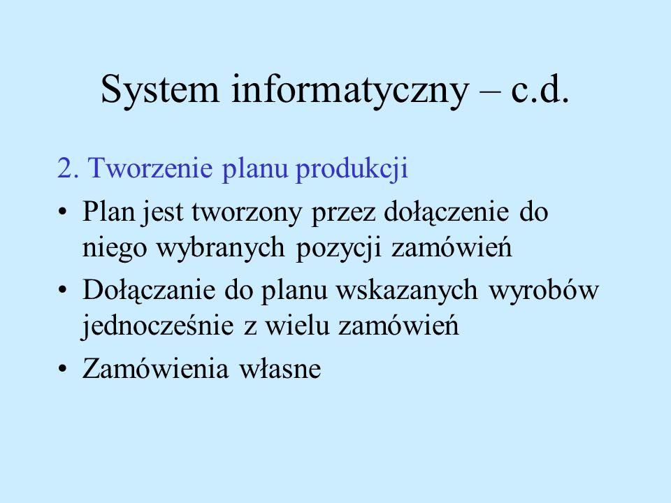 System informatyczny – c.d.