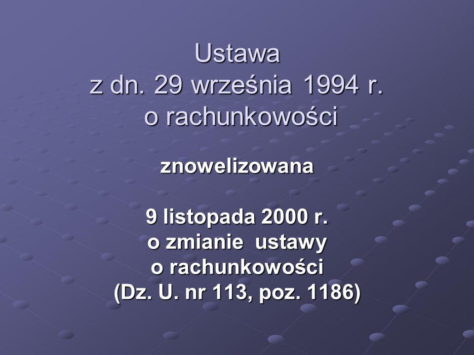Ustawa z dn. 29 września 1994 r. o rachunkowości