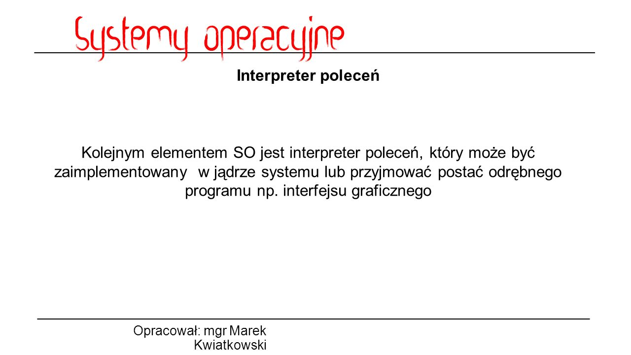 Interpreter poleceń