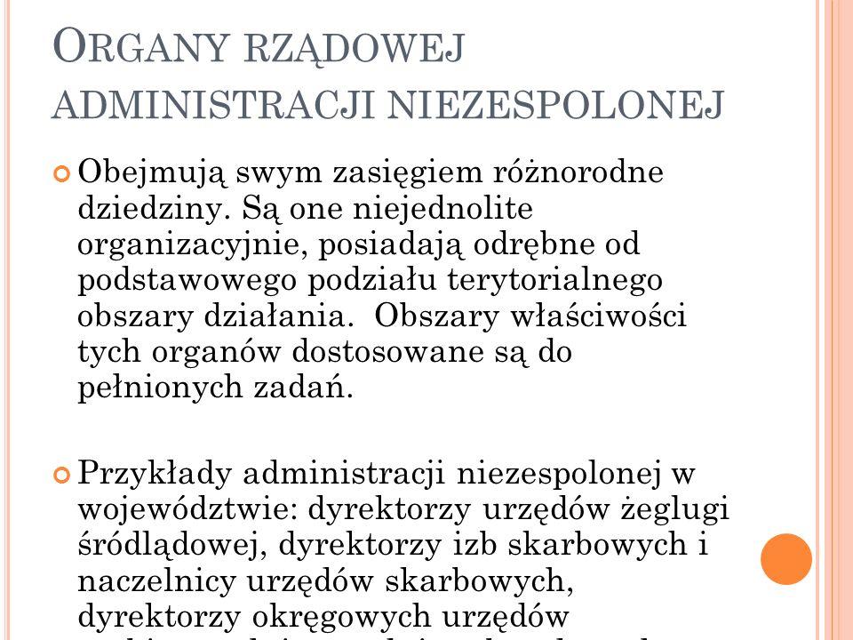 Organy rządowej administracji niezespolonej