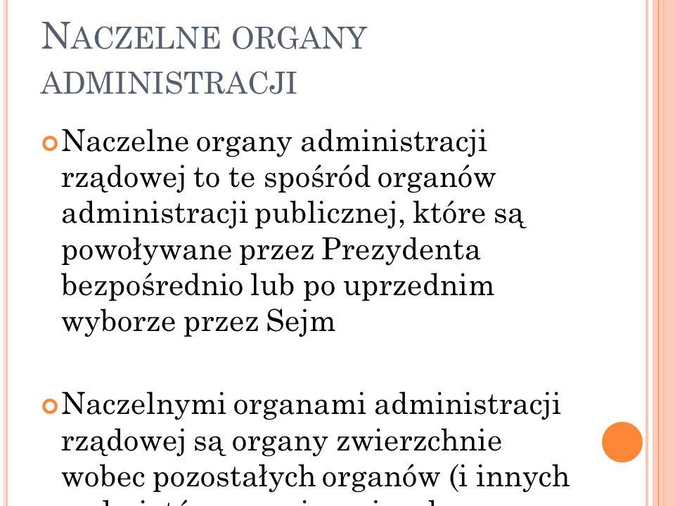 Naczelne organy administracji