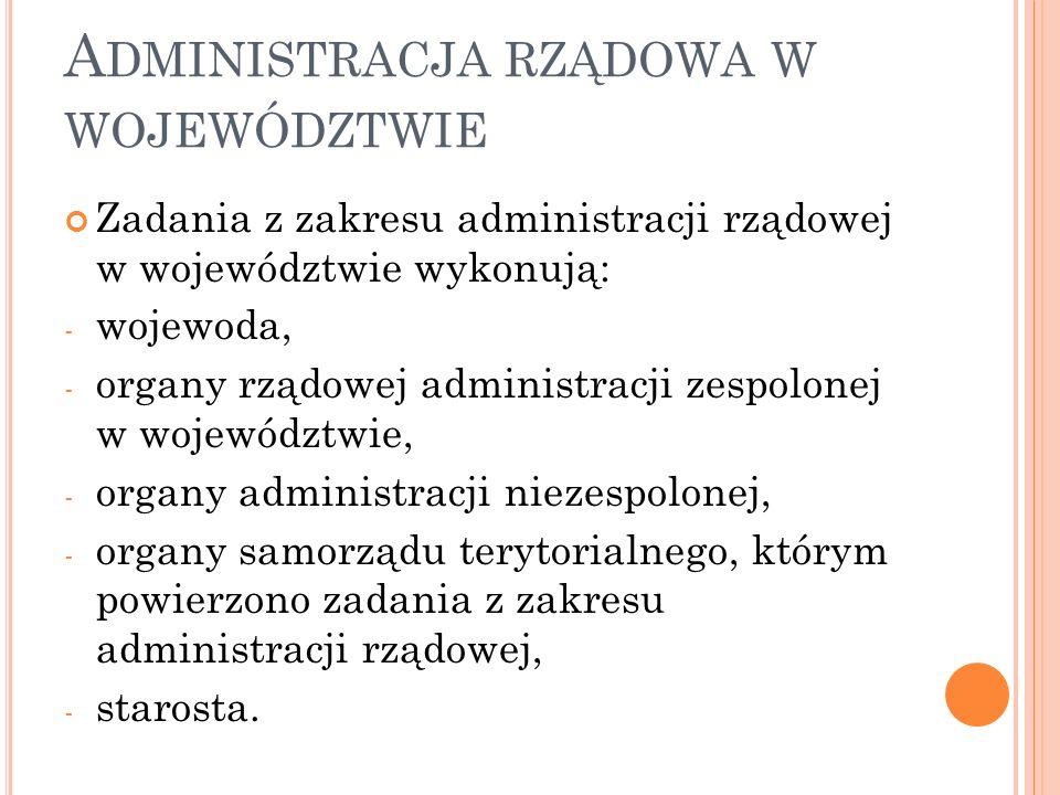 Administracja rządowa w województwie