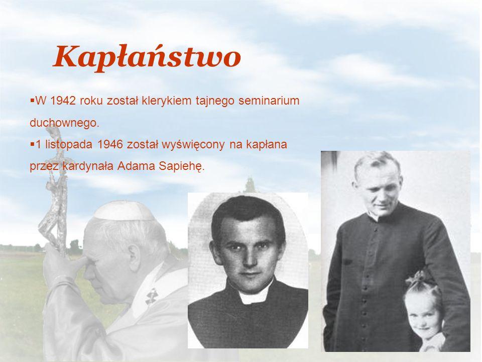 Kapłaństwo W 1942 roku został klerykiem tajnego seminarium duchownego.