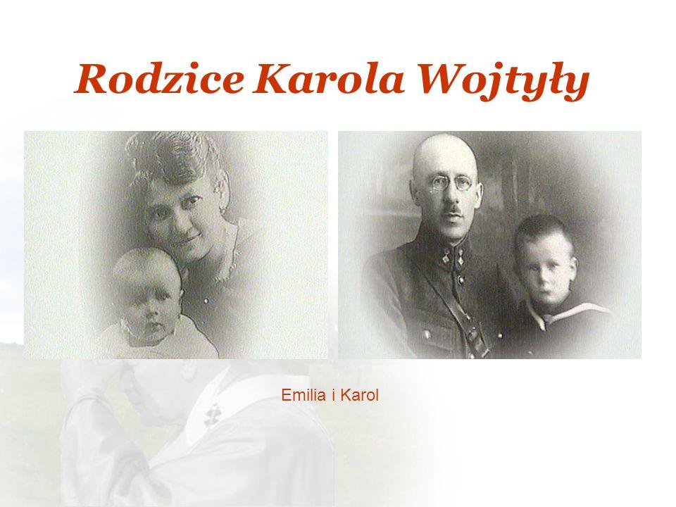 Rodzice Karola Wojtyły