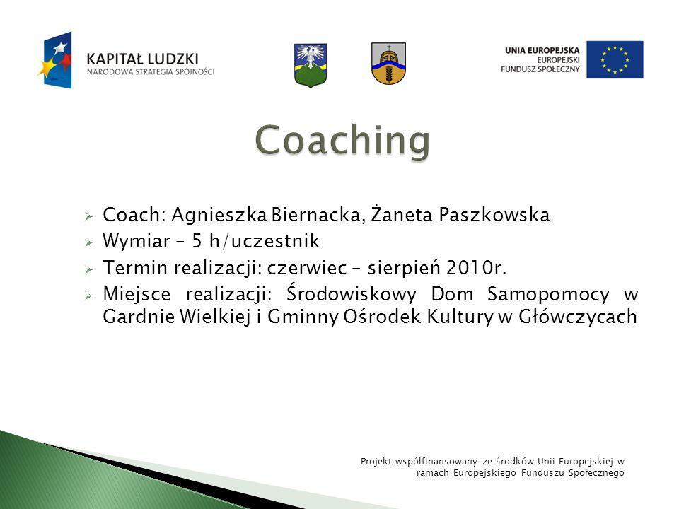 Coaching Coach: Agnieszka Biernacka, Żaneta Paszkowska