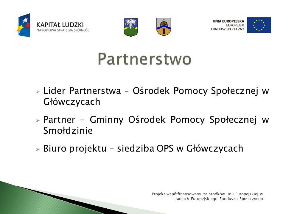 Partnerstwo Lider Partnerstwa – Ośrodek Pomocy Społecznej w Główczycach. Partner – Gminny Ośrodek Pomocy Społecznej w Smołdzinie.