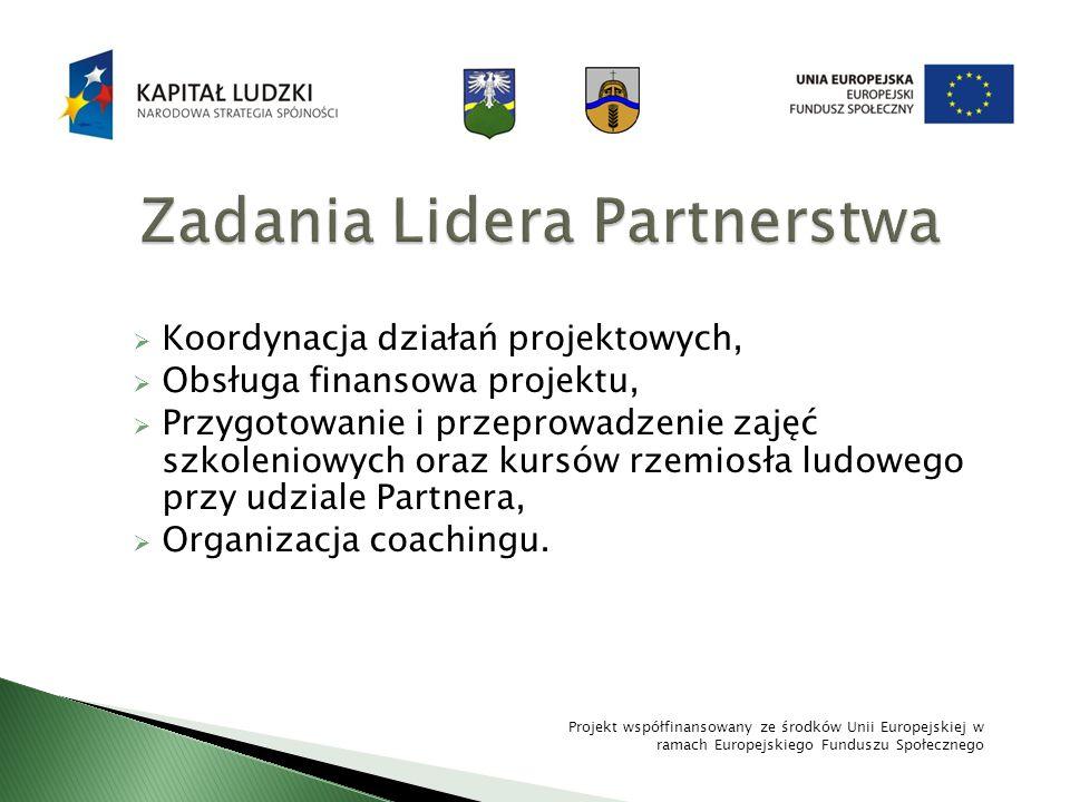 Zadania Lidera Partnerstwa