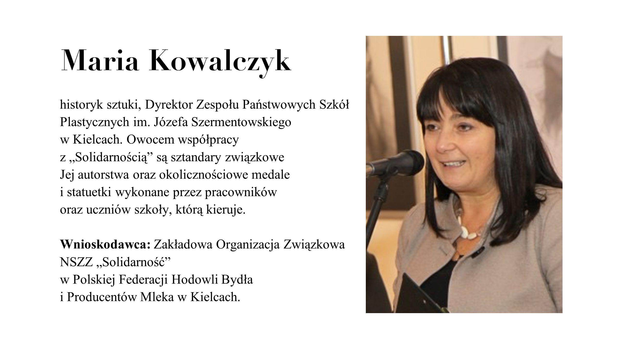 Maria Kowalczyk
